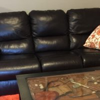 Electric recliner & Loveseat-black leather